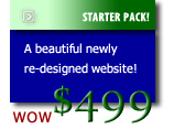 STARTER PACK! A Beauful newly re-designed website! - Only $499